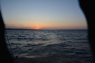 Coucher de soleil sur la pointe de Beg-Meil