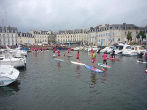 competion de Padell dans le port de Vannes